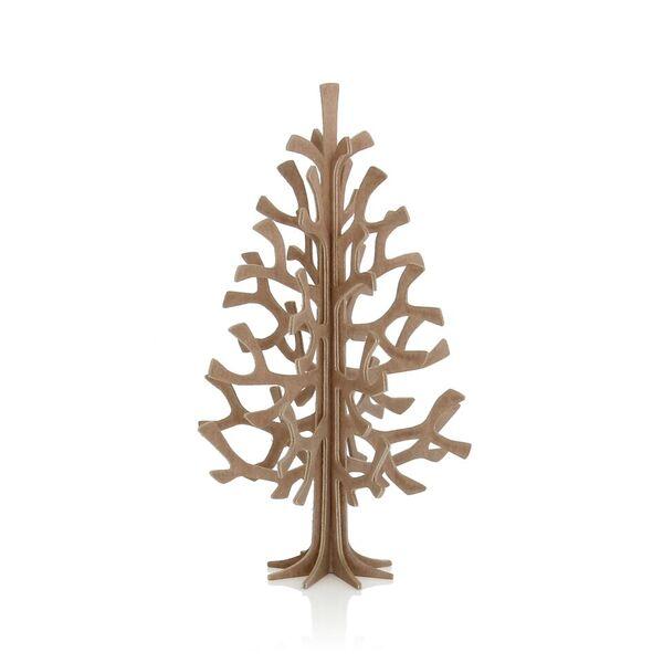 【LOVI】【メール便対応可】ミニクリスマスツリー14cm/ ブラウン  / グリーティングカード (組み立て式)