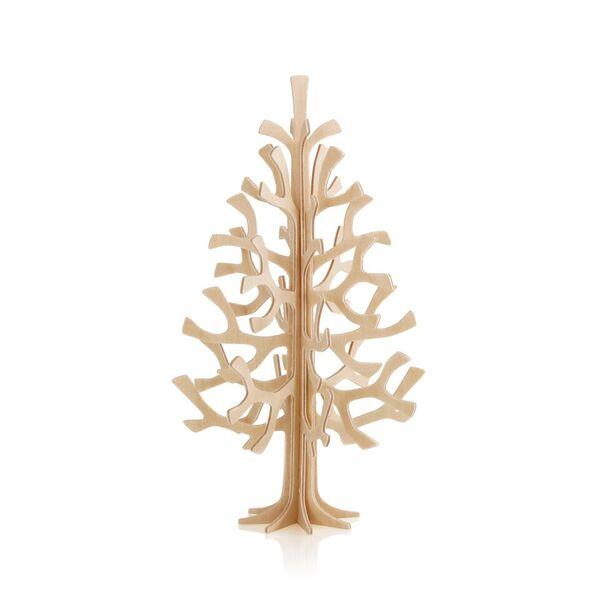北欧雑貨【LOVI】ロヴィミニクリスマスツリー14cm・もみの木/ ナチュラルウッド  / グリーティングカード (組み立て式)の写真