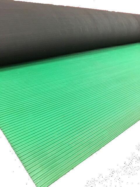 【送料無料】筋入りゴムマット(B山ゴムマット) 10M巻 ヨコ筋タイプ 工事現場などで使用するゴム製の床養生滑り止めマット