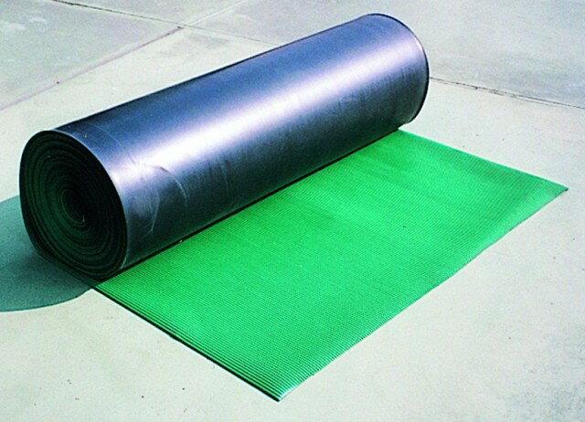 【送料無料】筋入りゴムマット(B山ゴムマット) 10M巻 タテ筋タイプ 工事現場などで使用するゴム製の床養生滑り止めマット