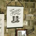 Graham's Barber [ グラハムズ バーバー ] 37x46cm ■ タペストリー | ウォールデコ【 インターフォルム 】