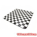 Cushion floor carpet Toli black and white checks about 180cmX180cm