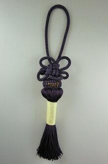 京都議定書 Kumihimo 五斗櫃為分庭瓶 4 英寸長的字串 (如字串) 日本流蘇風格五斗櫃古代紫朱