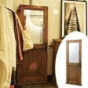 ウォールミラー ドア型ミラー 天然木 幅65cm ( 送料無料 ミラー 姿見 かがみ 鏡 壁掛け 全身 木製 ドア型 ウッド 家具 おしゃれ ア..