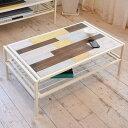 センターテーブル ローテーブル CHROME 天然木 スチールフレーム 幅90cm ( 送料無料 テーブル コーヒーテーブル 木製天板 アイアンフレーム 収納ス...
