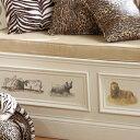 【ポイント最大17倍】リアルな動物でお部屋がサファリパークになるウォールステッカー 壁紙シール インテリアシール ウォールシール 子供部屋