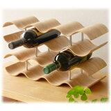 Plywood Non slip tray 酒架14个事情柳叶(厨房 收纳厨房收纳葡萄酒木制)[Plywood Non slip tray ワインラック 14本用 ウィロー( キッチン 収納 キッチン収納 ワイン 木製  )]