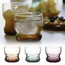 【ポイント最大17倍】レトロ調アースカラーが美しいロックグラス タンブラー コップ グラス ガラス製