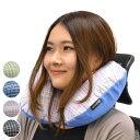 トラベルクッション チェック柄 ポンプ式 携帯用 エアー枕 ...