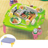 ピクニックテーブル レジャーテーブル 連結可能 カップホルダー4人分付き ( ハンディテーブル 折りたたみ テーブル アウトドア 運動会 )