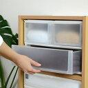 収納ケース ポスデコ ワイドサイズ 深型ショート2段 深型1段 カラーボックス用 ( 収納ボックス カラーボックス …
