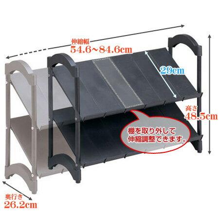 シューズラック 伸縮タイプ 2段 積み重ね可能...の紹介画像3