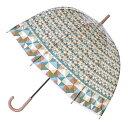 ショッピングビニール 傘 ハッピークリアドームアンブレラ ブロック ビニール ドーム型 長傘 ( カサ かさ 雨傘 アンブレラ 透明傘 レディース おしゃれ レイングッズ )【5000円以上送料無料】