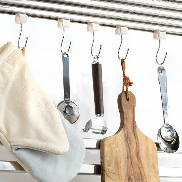 フープ棚用フック5個ステンレス製(引っ掛け吊り下げキッチン収納キッチン用品キッチン雑貨収納キッチン)
