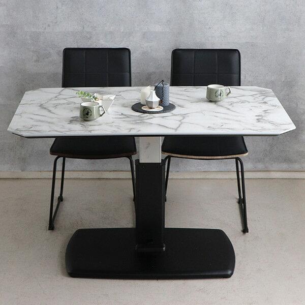 大理石調 ローテーブル 120cm センターテーブル