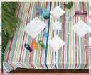 テーブルクロス ペイント132×178cmさっと拭けるビニール製