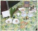 テーブルクロス ウッドバイン132×132cmさっと拭けるビニール製