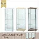 【送料無料_f】リビング ガラス コレクションケース 背高 4段 ナチュラル/ホワイト/ブラウン