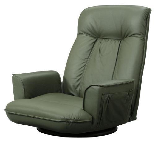 【送料無料】高級座椅子本革張(一部合成皮革)グリーン家具 アジア アジアン家具 エスニック エスニック家具 いす 椅子 キョウソク 安楽椅子 座椅子 パーソナルチェア チェア 本革 リクリニングチェア リクライニング リラックス リラックスチェア 和室