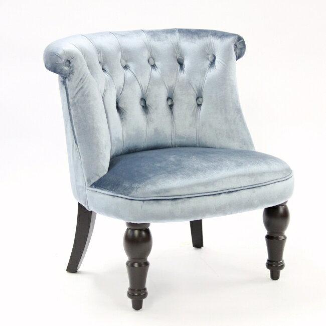ボヌールチェア ベルベット BLUE 【送料無料】 完成品 布張り チェア アームチェア 椅子 ソファー ソファ 1人掛け 家具 輸入家具 221064 アメリカンテイスト家具ボヌールチェアです。丸っこく、サイズは小ぶりなのでマンションなどに最適です。 とてもかわいく愛着があり、マイチェアーにもってこいです。