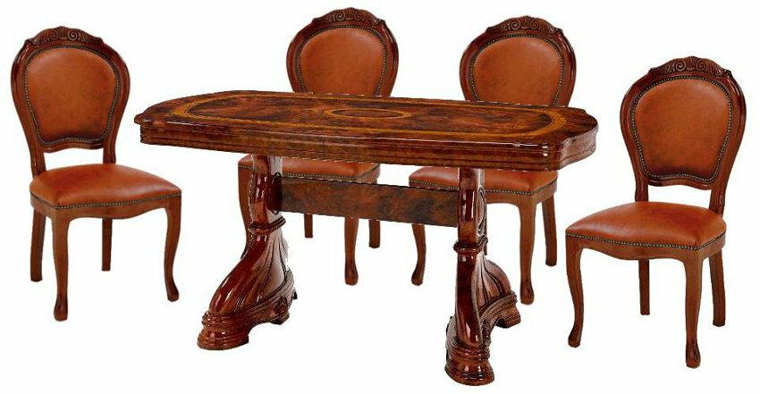 サルタレッリ アマルフィ ダイニングセット 5点 幅145 【送料無料】 SAMI-617-BR SAMI-618-BR2 ダイニングテーブルセット ダイニングテーブル 4人 テーブルセット テーブル 家具 輸入家具 イタリア家具ウォールナット 力強いパール杢とクラシカルなフレームが印象的な アマルフィ ウォールナット コレクション。ロマンティックで夢のある空間を演出します。クラシックで上質な生活を目指す方に、、、【涼しい】