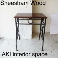 SHEESHAM WOOD + IRONネストテーブル・S IAPF-099【シーシャム/シーシャムウッド/アイアン/ウッド/アイアン雑貨/アンティーク風/ヴィンテージ風テーブル/デスク/パソコン/カウンター/サイド】