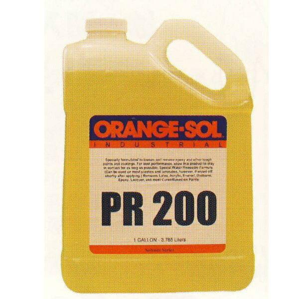 送料無料 ペイントリムーバー PR200 接着剤、塗料はがし液 1ガロン 4缶