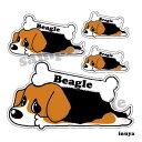 ビーグル 犬 ステッカー くたいぬデザイン 犬屋