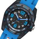 フィラ FILA クオーツ 腕時計 38-091-003 ブラック×ブルー メンズ