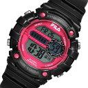 【ポイント5倍】(〜9/30) フィラ FILA クオーツ デジタル 腕時計 38-099-001 ブラック×ピンク レディース