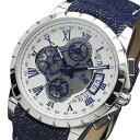 サルバトーレマーラ SALVATORE MARRA クロノグラフ クオーツ 腕時計 SM13119D-SSWHBLBL ホワイト メンズ
