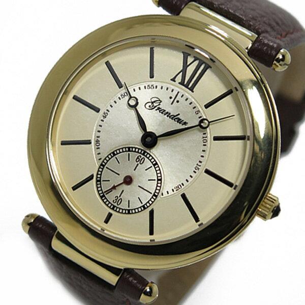 グランドール GRANDEUR クオーツ 腕時計 GSX057G1 ゴールド メンズ ●○● 送料無料! ●○●※但し沖縄・一部離島は650円
