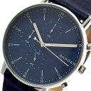 【令和へジャンプxポイントアップ】(4/26 10:00~4/30 23:59)【ポイント2倍】(~4/30 23:59) スカーゲン SKAGEN 腕時計 SKW6463 シグネチャー SIGNATUR クォーツ ネイビー メンズ