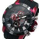 【ポイント5倍】(〜10/31) サルバトーレマーラ SALVATORE MARRA クロノグラフ クオーツ 腕時計 SM15109-BKRD レッド メンズ