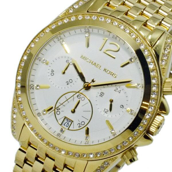 マイケルコース MICHAEL KORS クロノグラフ 腕時計 MK5835 ホワイト レディース ●ご注文金額10,800円以上で送料無料! ※沖縄・離島650円