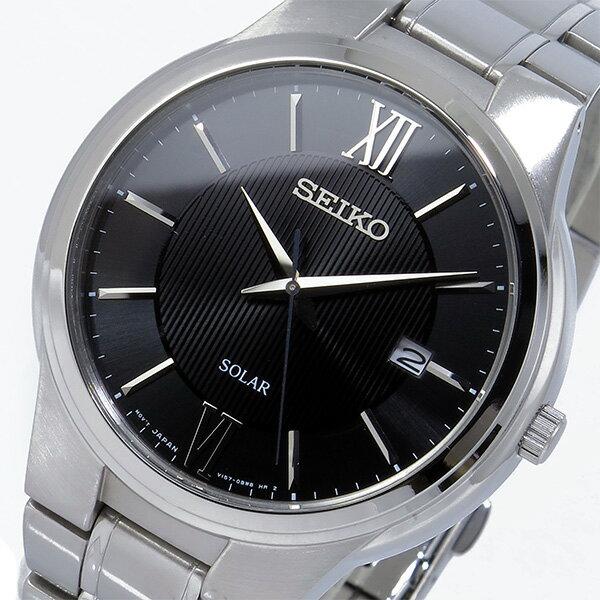 セイコー SEIKO ソーラー ブラックダイアル クオーツ 腕時計 SNE387P1 ブラック メンズ ●ご注文金額10,800円以上で送料無料! ※沖縄・離島650円