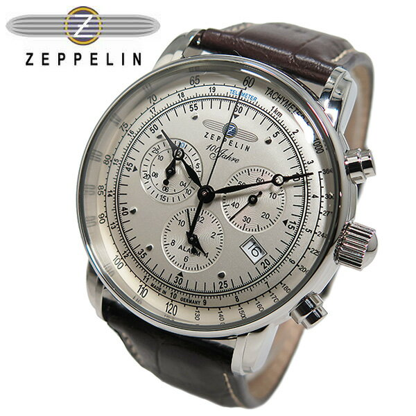 【あす楽】 ツェッペリン ZEPPELIN 100周年記念 クオーツ クロノグラフ 腕時計 7680-1 メンズ