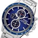 セイコー SEIKO クロノグラフ ソーラー クオーツ 腕時計 SSC431P1 ネイビー メンズ