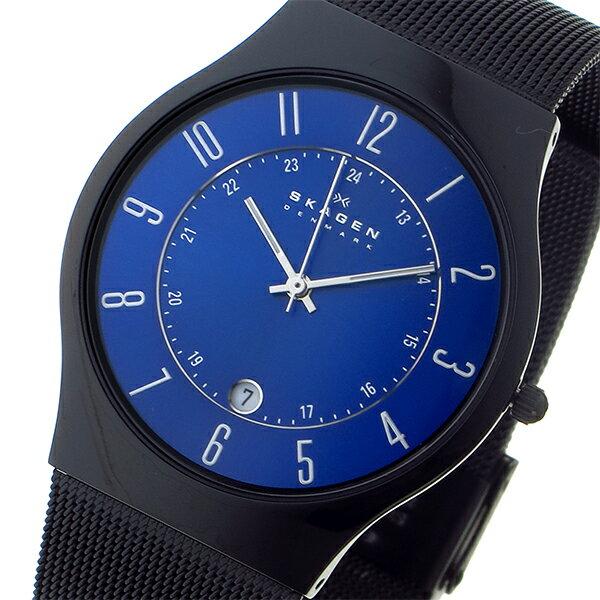 スカーゲン SKAGEN ウルトラスリム チタン 腕時計 T233XLTMN ブルー メンズ ●ご注文金額10,800円以上で送料無料! ※沖縄・離島650円