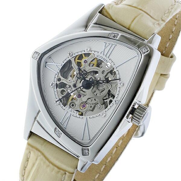 コグ COGU 自動巻き レディース 腕時計 BS01T-WH ホワイト/シルバーレディース ●ご注文金額10,800円以上で送料無料! ※沖縄・離島650円