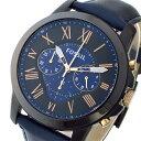 【エントリー&3,000円以上でポイント3倍】(〜8/24)【ポイント2倍】(〜8/31) フォッシル FOSSIL クロノグラフ クオーツ 腕時計 FS5061 ネイビー メンズ