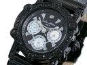 【ポイント10倍】(〜9/30) ドルチェメディオ DOLCE MEDIO 天然ダイヤ 腕時計 DM10017QZ-BKBK/BK メンズ 【代引き不可】