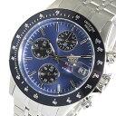 エルジン ELGIN クロノグラフ クオーツ 腕時計 FK1408S-BLN ネイビー メンズ