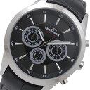 テクノス TECHNOS クロノグラフ クオーツ 腕時計 T9441SB ブラック メンズ