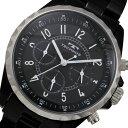テクノス TECHNOS クロノグラフ クオーツ 腕時計 T9449BB ブラック メンズ