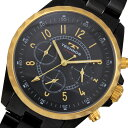 テクノス TECHNOS クロノグラフ クオーツ 腕時計 T9449BG ブラック×ゴールド メンズ