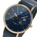 サルバトーレマーラ SALVATORE MARRA クオーツ 腕時計 SM15117-PGNVPG ネイビー ユニセックス