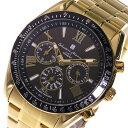 サルバトーレマーラ SALVATORE MARRA 電波ソーラー クロノグラフ メンズ 腕時計 SM15116-GDBKGD ブラックメンズ