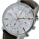 【ポイント5倍】(〜1/10) テクノス TECHNOS クオーツ クロノグラフ 腕時計 T6397SA ホワイト/ピンクゴールド メンズ