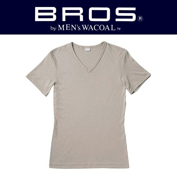 ワコール ブロス BROS V首半袖シャツ メンズ GL5600【i】【wcl-brl】【605】【n】【n12】【p】【】